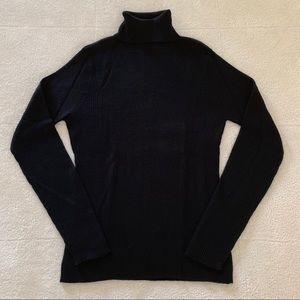 Old Navy Black Wool Blend Turtleneck Sweater M